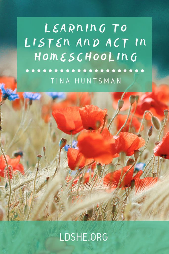 ldshe article, learning to listen and act, homeschool advice, homeschool article, mentor mom, how to receive personal revelation
